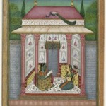 Dhanyashri Ragini, page from a dispersed Ragamala series