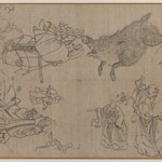Figures and Animals in the Manner of Hokusai