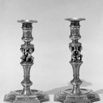 Candlestick with Removable Bobeche, One of Pair