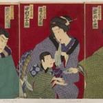 Triptych: Kabuki Scene