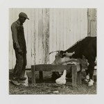 [Untitled] (Farmer with Cow)