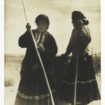 [Untitled] (Native American Women with Wooden Poles, New Mexico)