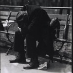 [Untitled] (Man on Bench, New York)