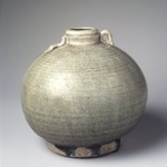 Sawankhalok Celadon Bottle