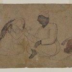 Drawing of Three Seated Figures