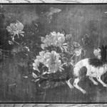 Cats and Peonies (Pair of small Itado Wooodsliding Doors)