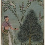 Lady in the Wilderness, Fragment of a Page from a Bhagavata Purana Series