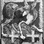 Dog with Crosses