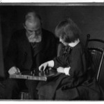 [Untitled] (Seated Portrait of William Rand and Grandaughter Peggy Lee Playing Checkers)