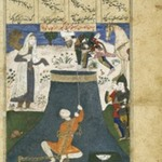 Rustam Rescues Bizhan from the Dungeon, Leaf from a Dispersed Shah-nama Series