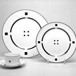 "Buffet Plate from Four-Piece Setting, ""Tuxedo"""