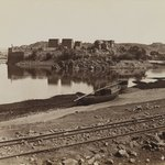 Philae (View of the East Bank of the Nile, northwest)