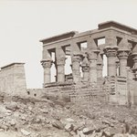 Philae (View of the southeast of the Kiosk of Trajan and the First Pylon of the Temple of Isis)
