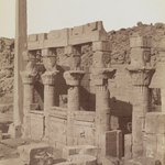 Philae (View from the northeast of the south end of the West Colonnade and the Porch of Nectanebo at the Temple of Isis)