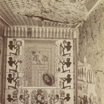 Tomb of Nakht at Thebes (View of painted wall and ceiling from tomb)