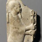 Relief of Ptah Holding Ankh and Djed
