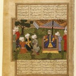 Ali Receives the Paladin Adnan, Folio from the Khavarannameh of Muhammad Ibn Husam