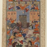 "Folio from a ""Shahnameh"": The Iranians Capture Afrasiyabs      Fortress"
