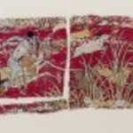 Textile Fragment with Hunter on Horseback