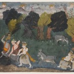Balarama Kills the Ass Demon, Page from a Dispersed Bhagavata Purana Series