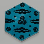 Hexagonal Tile with Çintamani Pattern