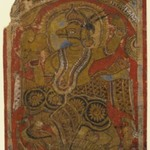 Harinegameshin Carrying the Embryo, Fragment of a Leaf from a Dispersed Kalpasutra
