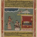 A Maids Words to Radha, Page from a Dated Rasikapriya Series