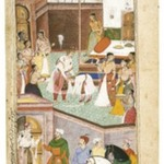 Gautama is Relieved to Find That His Son Chirakarin Has Not Carried Out His Impulsive Order to Execute Ahalya, Leaf from a Razmnama Manuscript
