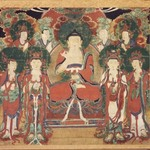 Amita (Amitabha) with Six Bodhisattvas and Two Arhats