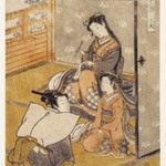 Young Woman with Youth and Young Attendant: Taifu, from Furyu Jinrin Juniso