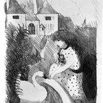 Girl Feeding a Swan