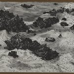 Untitled (Rocks and Sea with Gulls)
