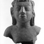 Head and Upper Torso of a Buddha, Dvaravati Style