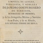 Testimonies of the Legitimacy, Purity of Blood, and Nobility of the Counts of Regla