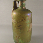Tall, Cylindrical Bottle of Plain Blown Glass
