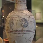 Wine Jar Showing Grape Vine