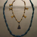 Single Strand Necklace with Barrel Beads