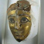 Small Gilded Mummy Mask