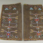 Pair of Leggings beaded with floral and foliate designs