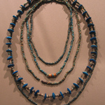 Single Strand Necklace with Disk Beads