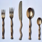 Salad Fork from a 5 Piece Place Setting, Sphere Pattern