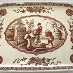 Rectangular Platter; Yeddo Pattern