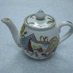Teapot with Lid; Pomegranate Pattern (from Complete Tea Service)