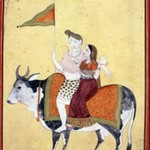 Shiva and Parvati Riding on Shivas Mount, Nandi