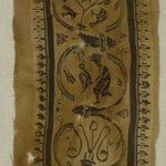 Textile Fragment Consisting of a Clavus with Twelve Rinceaux Containing Human Figures and Animals