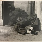 Man Sleeping in Doorway, Chicago