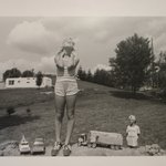 T.C. Buckhannon, West Virginia (Girl with Toys with Boy Admirer)