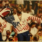 Earvin &quot;Magic&quot; Johnson, Gold Medal Winner, Barcelona, Spain