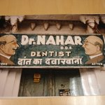 Udaipur, Rajasthan, India (Dentist Sign)