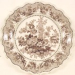 Plate, Tuscan Rose Pattern